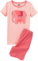 Crazy 8 Elephant 2-Piece Shortie Pajama Set