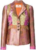 Etro floral patchwork blazer