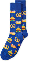Hot Sox Men's Food-Themed Patterned Dress Socks