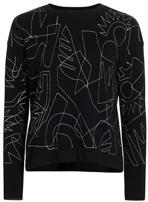 Nic+Zoe, Petites Petite Sketch Embroidered Sweater