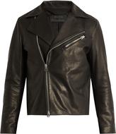 Acne Studios Axl suede-panel leather jacket