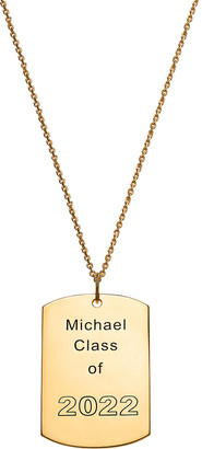 Limoges Jewelry Necklaces GOLD - 14k Gold-Plated Dog Tag Personalized Pendant Necklace