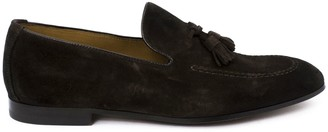 Doucal's Doucals Brown Tassel Suede Loafer