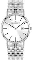 Pierre Petit Men's P-787F Serie Nizza Silver Dial Stainless-Steel Date Watch