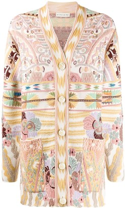 Etro Abstract Pattern Cardigan