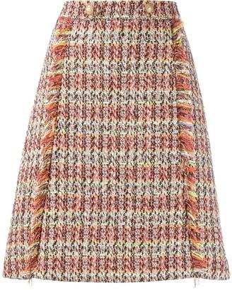 Etro woven A-line skirt