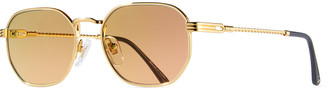 Vintage Frames Company Men's Detroit Player Gold-Plated Sunglasses