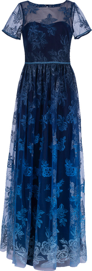 Marchesa Illusion Embroidered Ombre Gown