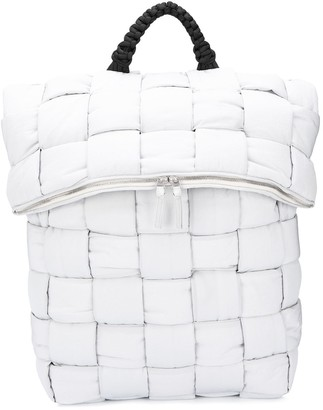 Bottega Veneta Fold-Top Padded Backpack