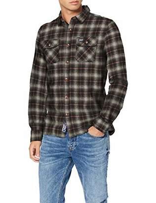 Superdry Men's Classic Lumberjack Shirt Casual (Black Check Q), 12 (Size: )