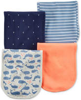 Carter's 4-Pack Graphic-Print Burp Cloths, Baby Boys