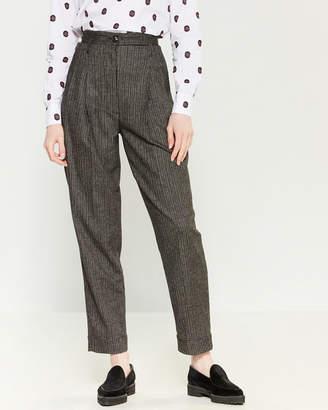 Tela Flat Front Stripe Dress Pants