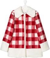 Piccola Ludo TEEN checked coat
