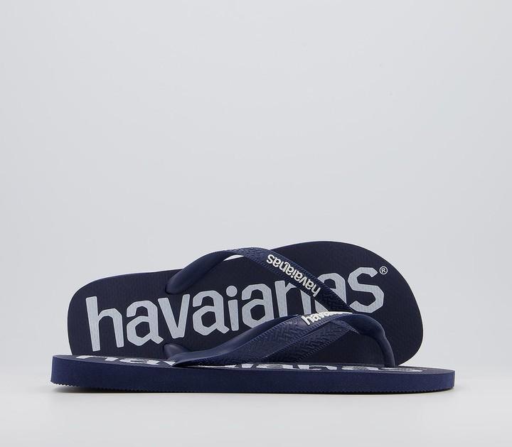 Havaianas Top Logomania Flip Flops Navy