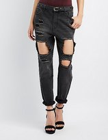 Charlotte Russe Highway Destroyed Boyfriend Jeans