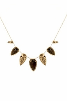 House Of Harlow Blackened Metal Five Station Arrowhead Necklace