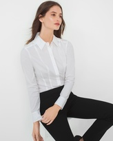White House Black Market White Poplin Shirt