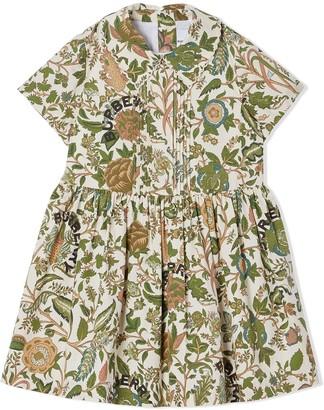 BURBERRY KIDS Botanical-print dress
