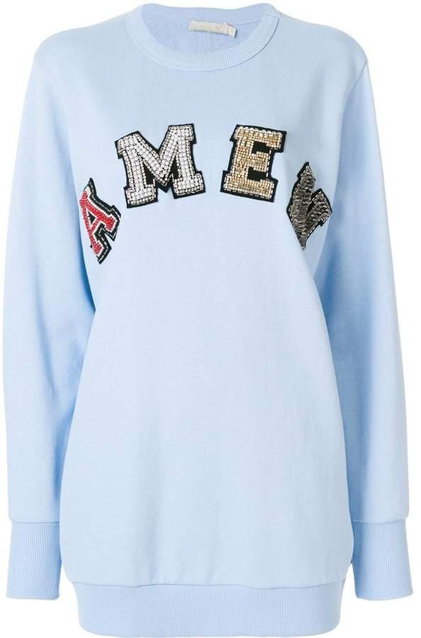 Amen slogan embellished sweatshirt