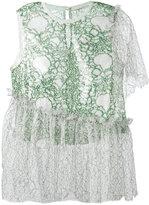 Marco De Vincenzo printed asymmetric blouse - women - Polyester - 42