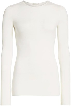 The Row Ivory Tumelo Wool Top