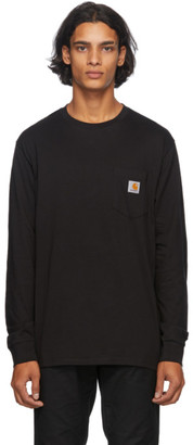 Carhartt Work In Progress Black Long Sleeve Pocket T-Shirt