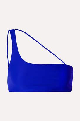JADE SWIM Apex One-shoulder Bikini Top - Bright blue