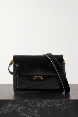 Marni Trunk Mini Leather Shoulder Bag - Black