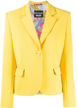 Boutique Moschino Single Breasted Blazer