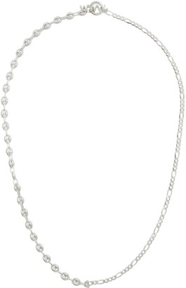 WWW.WILLSHOTT Silver Figaro Puff Marina Necklace