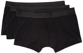 CDLP Three-Pack Black Boxer Trunks