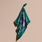 Burberry Garden Floral Print Silk Square – Small