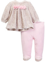 Little Me Leopard Velour Pant Set (Baby Girls)