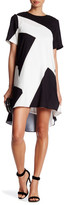 Donna Morgan Short Sleeve Trapeze Dress