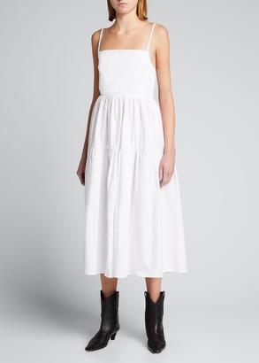 Ciao Lucia Gioia Square-Neck Tie-Back Midi Dress