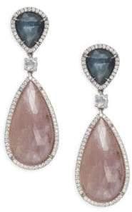 Marco Bicego Unico Diamond, Sapphire & 18K Gold Earrings