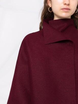 Harris Wharf London Funnel-Neck Crop-Sleeve Coat