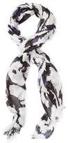 """Diane von Furstenberg Hanovar Leopard Vintage Long Scarf, 80"""" x 28"""""""