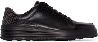 Fendi FF embossed lace-up sneakers
