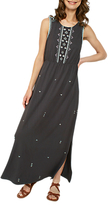 Fat Face Nadine Embroidered Maxi Dress, Black