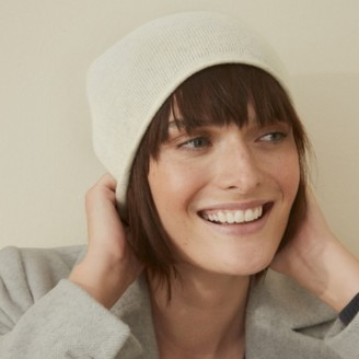 The White Company Cashmere Essential Hat, Cloud Marl, One Size