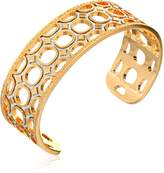 "Rebecca Seventies"" 24k Gold with Glam Small Cuff Bracelet, 2.5"""