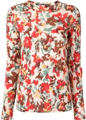 Proenza Schouler flora-print long-sleeve T-shirt