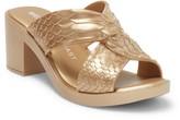 Melissa Baja East By Python Embossed Print Heel Block Heel Sandal