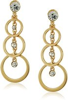 Anne Klein Gold-Tone Linear Drop Clip-On Earrings
