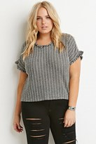 Forever 21 FOREVER 21+ Plus Size Frayed Two-Tone Top