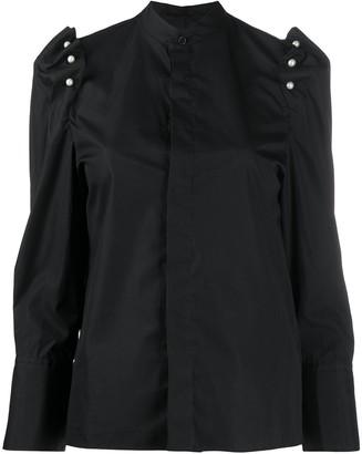Comme des Garcons Faux-Pearl Embellished Shirt