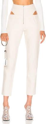 Zeynep Arcay Cutout Denim Pant in Off White | FWRD