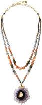 Nakamol Double-Strand Quartz Slice Pendant Necklace