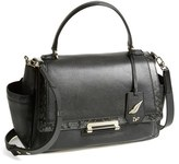 Diane von Furstenberg '440 Courier' Leather Satchel - Black